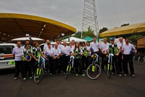 Il gruppo dei militi del BiciSoccorso della Croce Bianca di Brescia